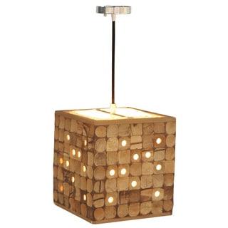 Decorative Calhoun Tan Geometric Transitional Hanging Pendant Lamp