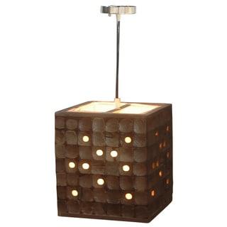 Decorative Calhoun Brown Geometric Transitional Hanging Pendant Lamp