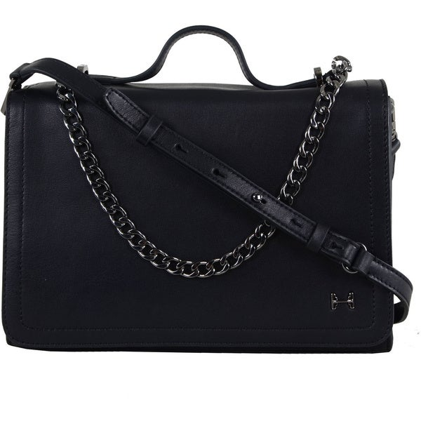 Halston Leather Chain Handle Shoulder Bag