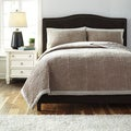 Signature Designs by Ashley Hand Quilted Beige 3-piece Quilt Set