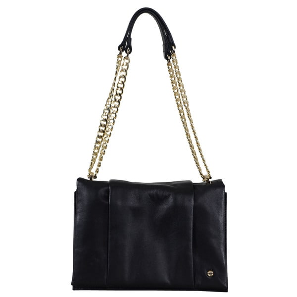 Halston Leather Chain-handle Shoulder Bag