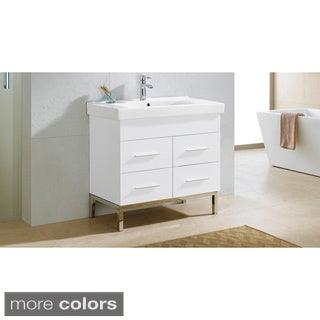 Somette Fine Fixtures Fashion 36-inch Vanity with Vitreous China Sink Top