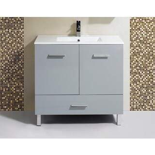 Somette Fine Fixtures Atwood 35-inch Vanity with Vitreous China Sink Top