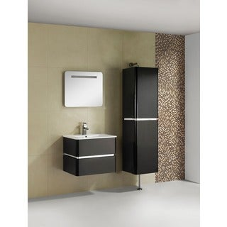 Somette Fine Fixtures 'Sundance' 24-inch High Gloss Vanity with Vitreous China Sink Top