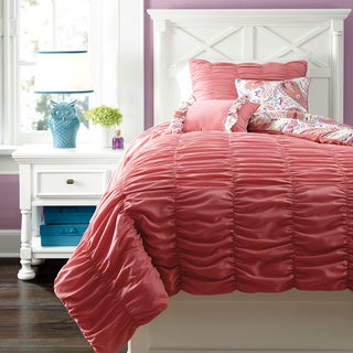 Signature Designs by Ashley Crinkle Pleat Pink Comforter