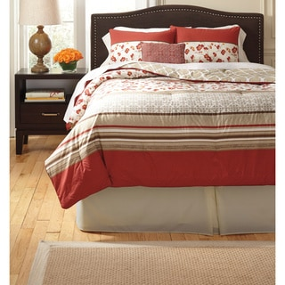 Signature Designs by Ashley Cayenne Rouge 4-piece Comforter Set