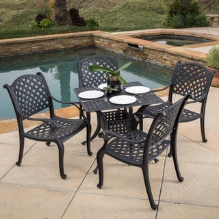 Christopher Knight Home Leandro Outdoor Aluminum 5-piece Dining Set