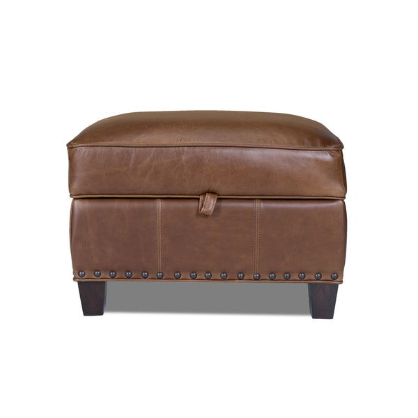 Coventry Saddle Bradford II Leather Storage Ottoman