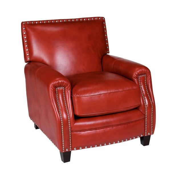 Santiago Red Madrid Leather Press Back Chair