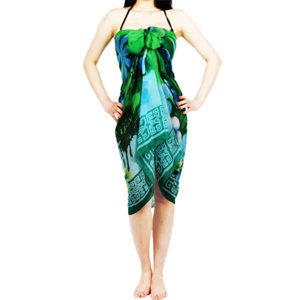 Palm Tree Printed Beach Sarong