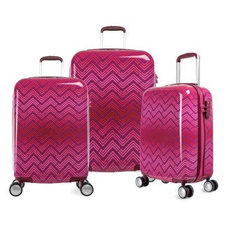 Olympia T-Line RI 3-piece Polycarbonate Hardside 4-wheel Spinner Luggage Set