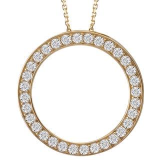 Avanti 14k Yellow Gold Cubic Zirconia Circle Necklace