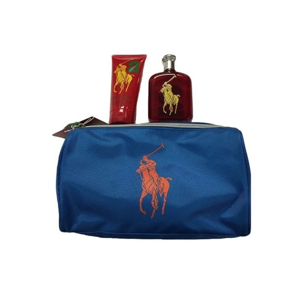 Ralph Lauren Polo Big Pony #2 Red 3-piece Gift Set