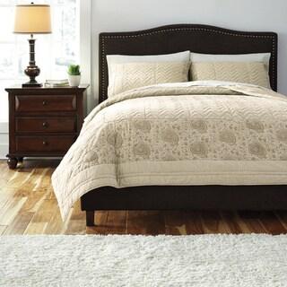 Signature Designs by Ashley Natural Paisley 3-piece Quilt Set