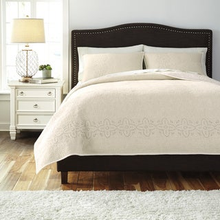 Signature Designs by Ashley Taupe 3-piece Comforter Set