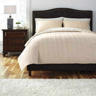 Signature Designs by Ashley Coverlet Beige 3-piece Comforter Set