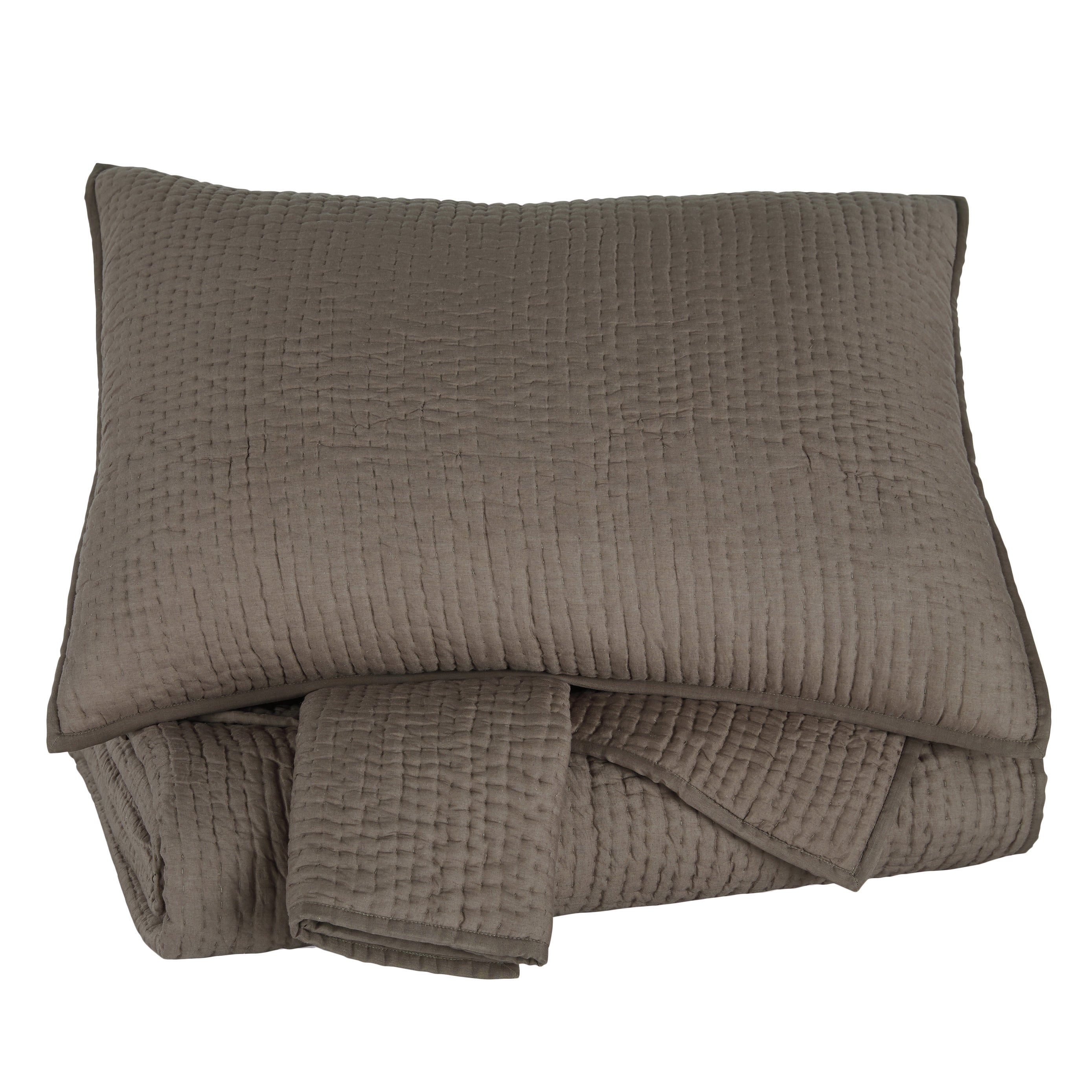 Signature Design by Ashley Signature Designs by Ashley Hand Quilted Charcoal 3-piece Comforter Set