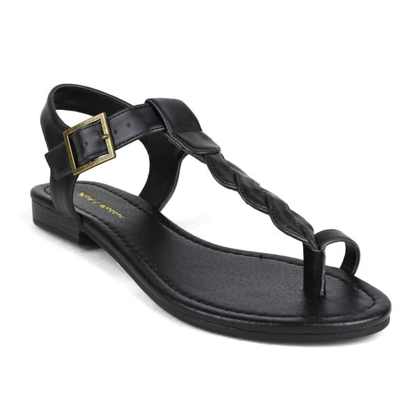 Mark and Maddux Women's Ziv-01 Twisted T-strap Sandal