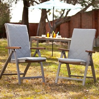 Upton Home Encore Outdoor Position Chairs 2pc Set - Gray