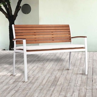 Upton Home Encore Outdoor Bench - Soft White
