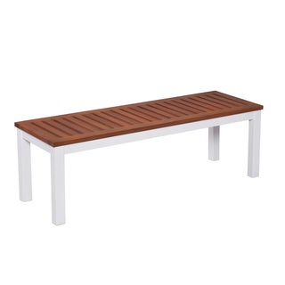 Upton Home Encore Outdoor Backless Bench - Soft White