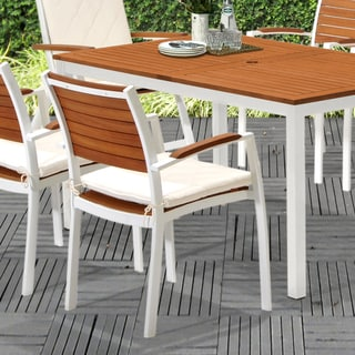 Upton Home Encore Outdoor Easy Chairs 2pc Set - Soft White