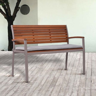 Upton Home Encore Outdoor Bench - Gray