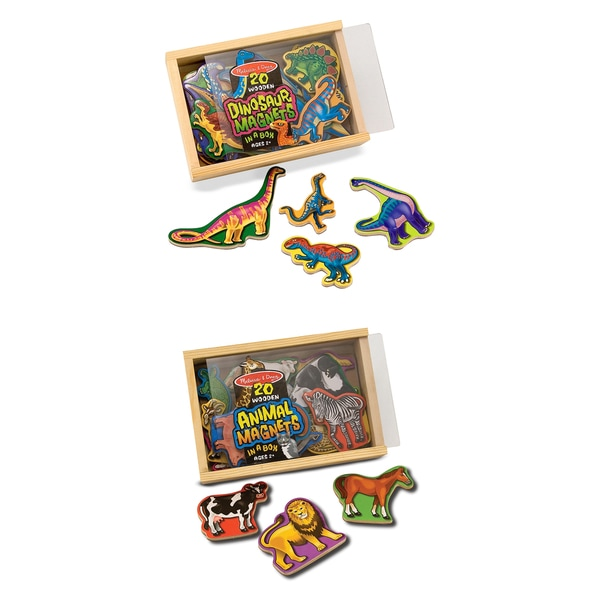 Melissa & Doug Magnetic Animals & Dinosaurs Bundle 15180412