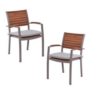 Upton Home Encore Outdoor Easy Chairs 2pc Set - Gray