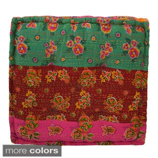 Floral Floor Cushion (India)