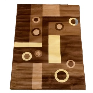LYKE Home Prism Brown Area Rug (8' x 10')