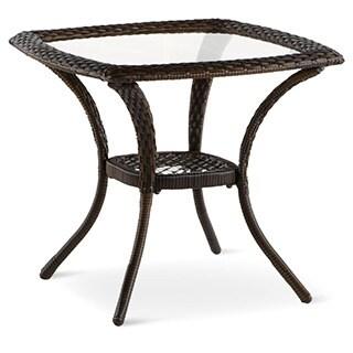 Art Van Aruba Glass Top End Table
