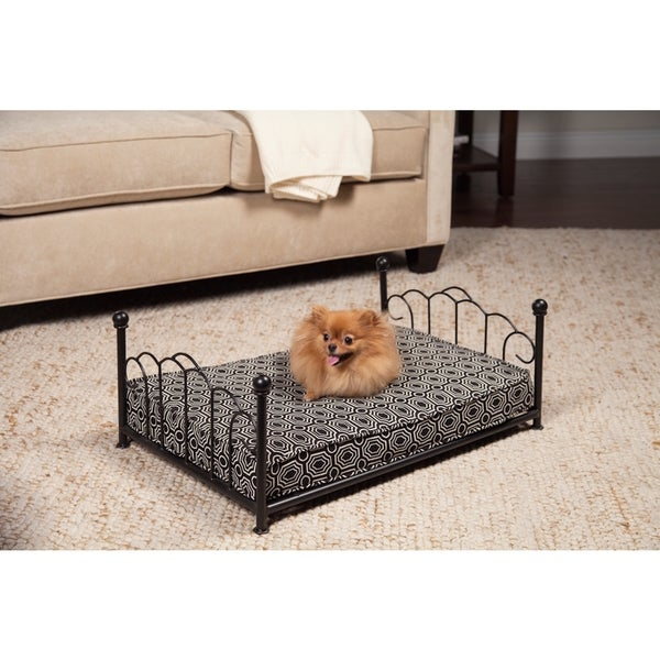 HomePop Sara Decorative Metal Pet Bed
