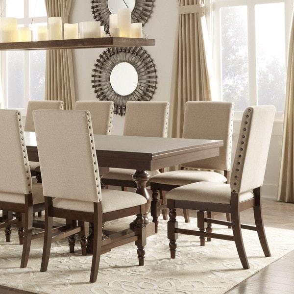 tribecca home flatiron nailhead upholstered dining chairs