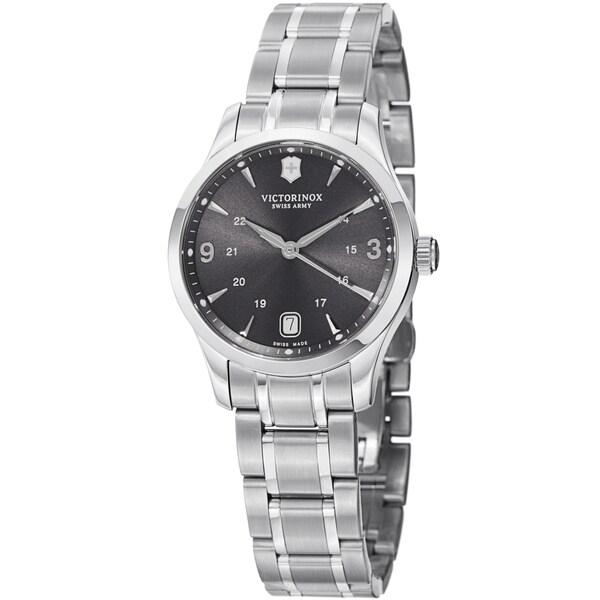Swiss Army Women's V241540 'Alliance' Grey Dial Stainless Steel Bracelet Swiss Quartz Watch