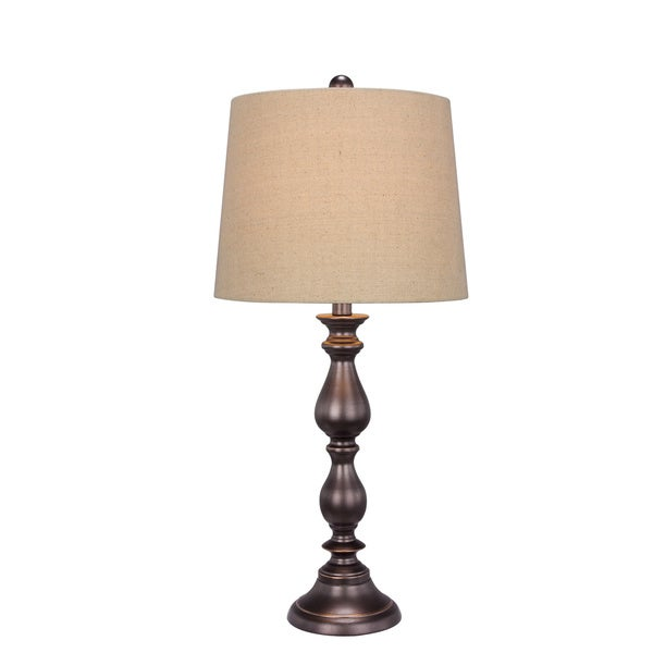 Metal Old English Finish 27-inch Table Lamp