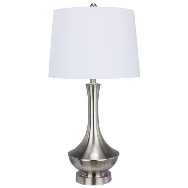 Metal Brushed Steel 30 Inch Table Lamp