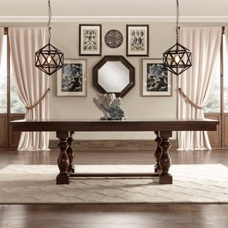 Flatiron Baluster Extending Dining Table by iNSPIRE Q Classic - Brown