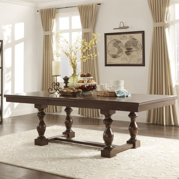 TRIBECCA HOME Flatiron Baluster Extending Dining Table