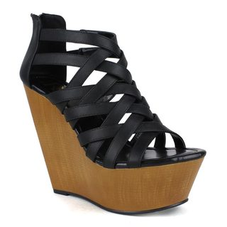 Fahrenheit Women's Ellen-04 Strappy Wedge Sandal