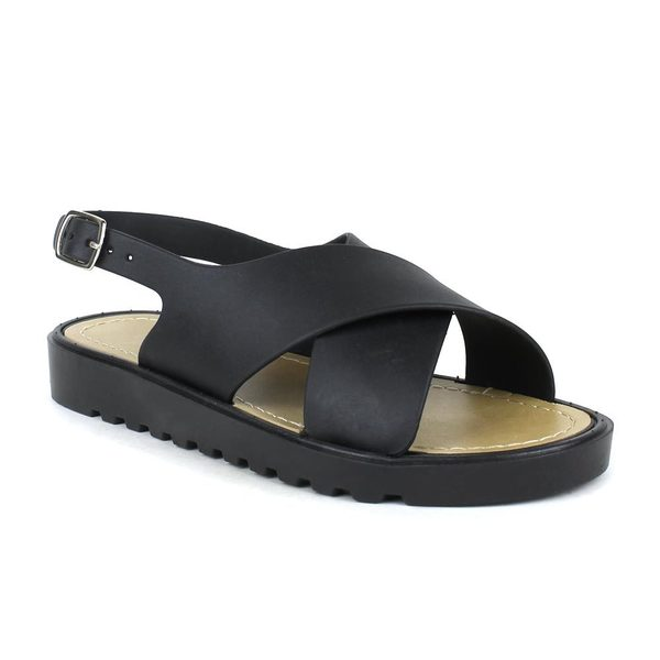 Fahrenheit Women's Susie-01 Crisscross Flat Sandals