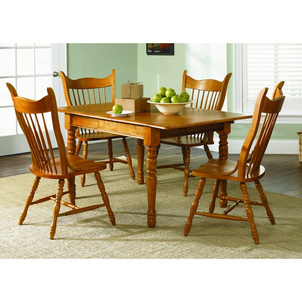 Country Haven Traditional Spice 5-piece Mule Ear Dinette Set
