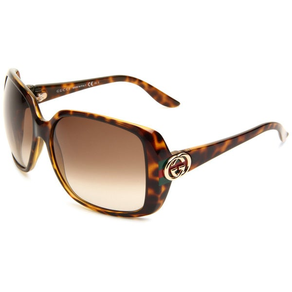 Gucci Women's 3166/S Plastic Rectangular Sunglasses