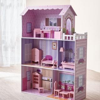 "Teamson Kids - Dreamland Tiffany 12"" Doll House - Pink"