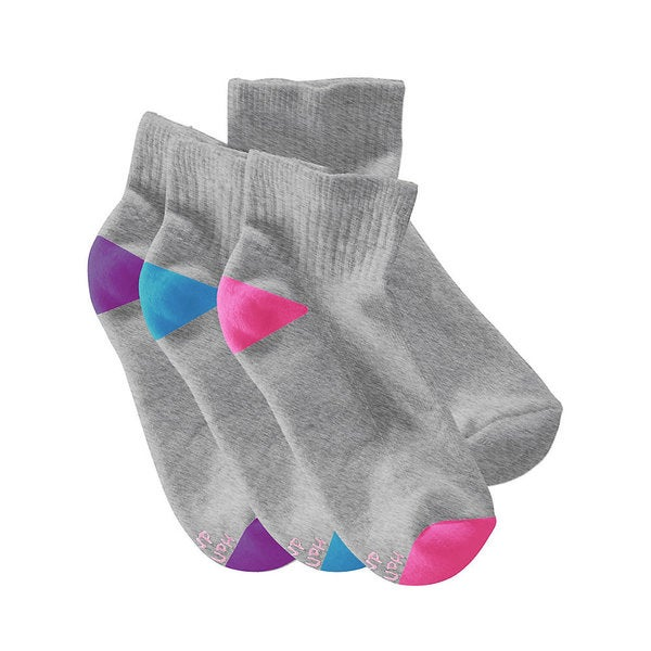 Hanes All Day Dry Cushioned Women's Ankle Athletic Socks (Pack of 6)