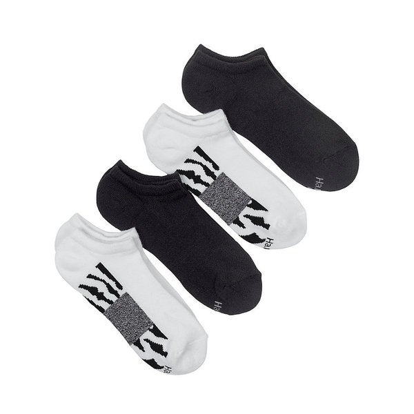 Hanes Fit Women's Cushion No-Show Socks with Arch Support (Pack of 4)