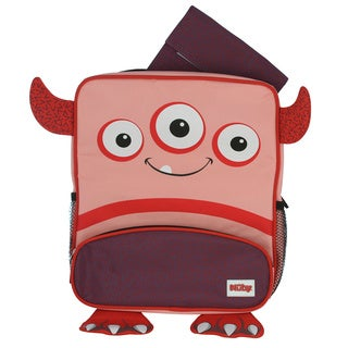 Nuby Pink Monster Kid's Backpack with Insulated Lunch Bag