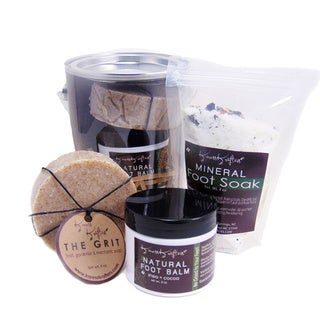 Fancy Feet Gift Set by Karess Krafters, Mineral Foot Soak, Pumice Foot Soap and Natural Foot Balm