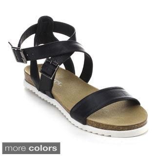 Bonnibel Benny-3 Women's Lug Sole Cork-like Ankle Strap Sandals