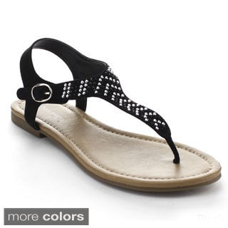 Bonnibel Tamera-1 Women's Low Heel T-strap Thong Sandals